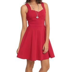 Red sweetheart swing dress